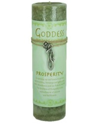 Goddess Prosperity Spell Candle with Amulet Pendant Mystic Convergence Metaphysical Supplies Metaphysical Supplies, Pagan Jewelry, Witchcraft Supply, New Age Spiritual Store
