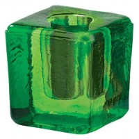 Green Glass Mini Candle Holder