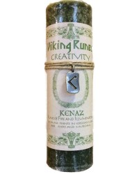 Kenaz Viking Rune Amulet Candle for Creativity Mystic Convergence Metaphysical Supplies Metaphysical Supplies, Pagan Jewelry, Witchcraft Supply, New Age Spiritual Store