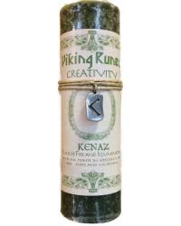 Kenaz Viking Rune Amulet Candle for Creativity