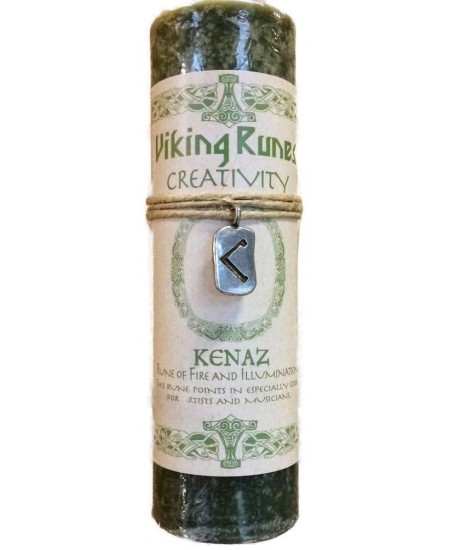 Kenaz Viking Rune Amulet Candle for Creativity at Mystic Convergence Metaphysical Supplies, Metaphysical Supplies, Pagan Jewelry, Witchcraft Supply, New Age Spiritual Store