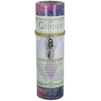 Goddess Meditation Spell Candle with Amulet Pendant