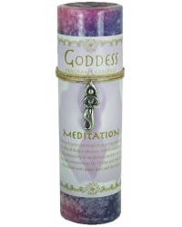 Goddess Meditation Spell Candle with Amulet Pendant Mystic Convergence Metaphysical Supplies Metaphysical Supplies, Pagan Jewelry, Witchcraft Supply, New Age Spiritual Store