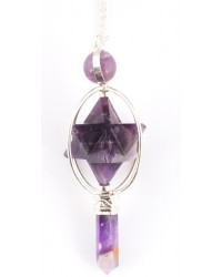 Amethyst Spinning Merkaba Pendulum for Insight Mystic Convergence Metaphysical Supplies Metaphysical Supplies, Pagan Jewelry, Witchcraft Supply, New Age Spiritual Store