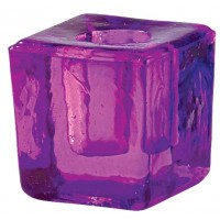 Purple Glass Mini Candle Holder