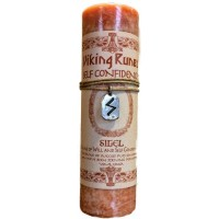 Sigel Self Confidence Viking Rune Amulet Candle