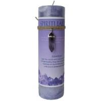 Spirituality Crystal Energy Candle with Amethyst Pendant