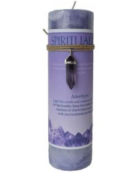 Spirituality Crystal Energy Candle with Amethyst Pendant Mystic Convergence Metaphysical Supplies Metaphysical Supplies, Pagan Jewelry, Witchcraft Supply, New Age Spiritual Store