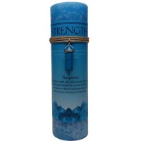 Strength Crystal Energy Candle with Turquoise Pendant