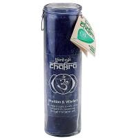 Third Eye Chakra Glass Jar Pillar Candle