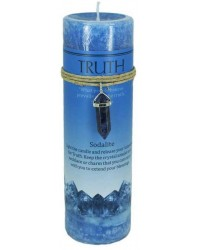 Truth Crystal Energy Candle with Sodalite Pendant Mystic Convergence Metaphysical Supplies Metaphysical Supplies, Pagan Jewelry, Witchcraft Supply, New Age Spiritual Store