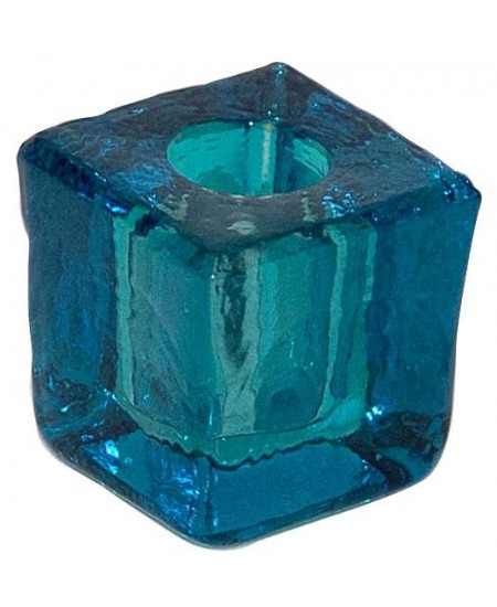 Turquoise Glass Mini Candle Holder at Mystic Convergence Metaphysical Supplies, Metaphysical Supplies, Pagan Jewelry, Witchcraft Supply, New Age Spiritual Store