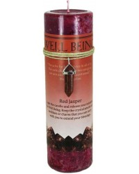 Well Being Crystal Energy Candle with Red Jasper Pendant Mystic Convergence Metaphysical Supplies Metaphysical Supplies, Pagan Jewelry, Witchcraft Supply, New Age Spiritual Store