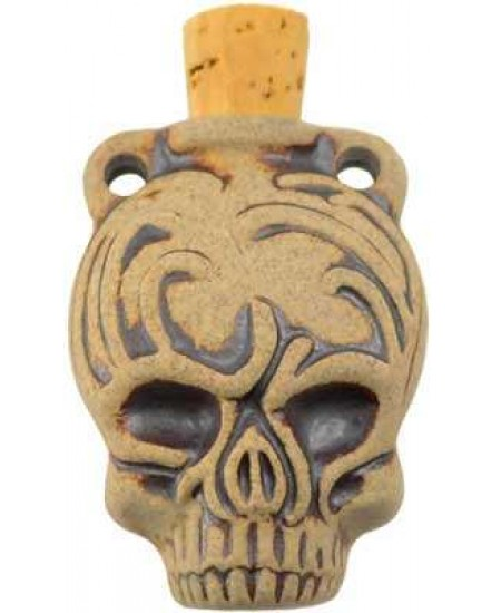 Calavera Skull Dead of the Dead Oil Bottle Necklace at Mystic Convergence Metaphysical Supplies, Metaphysical Supplies, Pagan Jewelry, Witchcraft Supply, New Age Spiritual Store