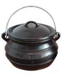 Potjie Cast Iron Flat Pot - 2 Quart Size 1/2 Mystic Convergence Metaphysical Supplies Metaphysical Supplies, Pagan Jewelry, Witchcraft Supply, New Age Spiritual Store