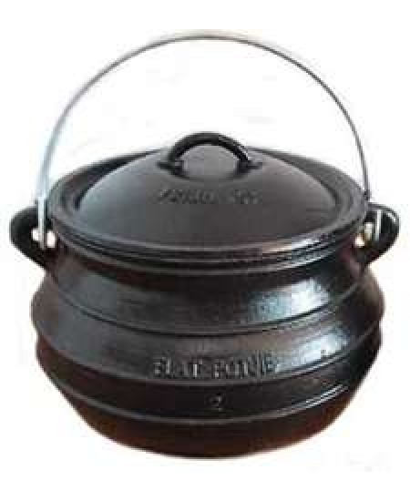 Potjie Cast Iron Flat Pot - 5 Quart Size 1 at Mystic Convergence Metaphysical Supplies, Metaphysical Supplies, Pagan Jewelry, Witchcraft Supply, New Age Spiritual Store