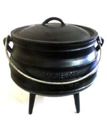 Cast Iron Potjie Cauldron - 42 oz. Size 1/2 at Mystic Convergence Metaphysical Supplies, Metaphysical Supplies, Pagan Jewelry, Witchcraft Supply, New Age Spiritual Store