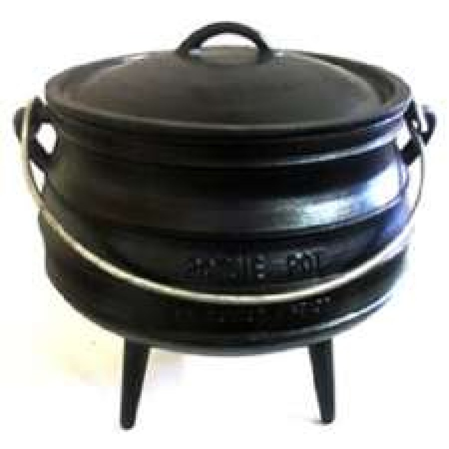 14 gallon cast iron potbelly potjie size 20 cooking pot lid cauldron. Black Bedroom Furniture Sets. Home Design Ideas