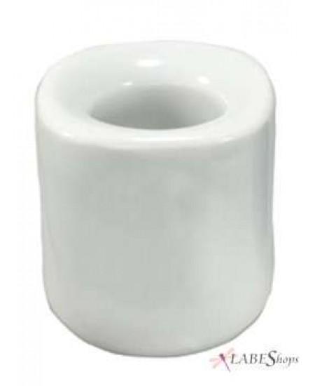 White Mini Taper Candle Holder