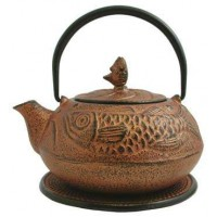 Fish Design Cast Iron Tea Pot