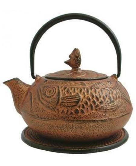 Fish Design Cast Iron Tea Pot at Mystic Convergence Metaphysical Supplies, Metaphysical Supplies, Pagan Jewelry, Witchcraft Supply, New Age Spiritual Store