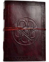 Pentagram Leather 10 Inch Journal with Cord Mystic Convergence Metaphysical Supplies Metaphysical Supplies, Pagan Jewelry, Witchcraft Supply, New Age Spiritual Store
