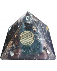 Shungite Flower of Life Orgone Pyramid Mystic Convergence Metaphysical Supplies Metaphysical Supplies, Pagan Jewelry, Witchcraft Supply, New Age Spiritual Store