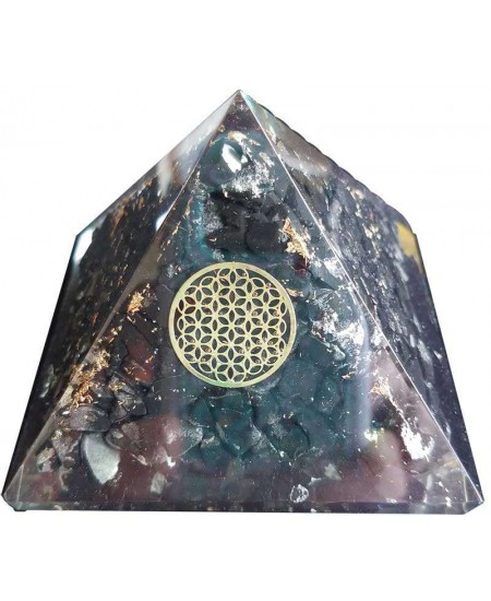 Shungite Flower of Life Orgone Pyramid at Mystic Convergence Metaphysical Supplies, Metaphysical Supplies, Pagan Jewelry, Witchcraft Supply, New Age Spiritual Store