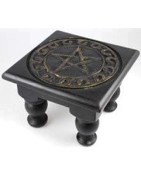 Pentacle Carved Wood Altar Table Mystic Convergence Wiccan Supplies, Pagan Jewelry, Witchcraft Supplies, New Age Store