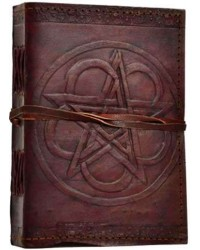 Pentagram Leather Journal with Cord Mystic Convergence Metaphysical Supplies Metaphysical Supplies, Pagan Jewelry, Witchcraft Supply, New Age Spiritual Store