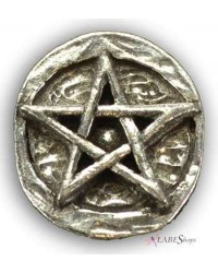 Pentagram Pewter Pocket Charm Mystic Convergence Metaphysical Supplies Metaphysical Supplies, Pagan Jewelry, Witchcraft Supply, New Age Spiritual Store