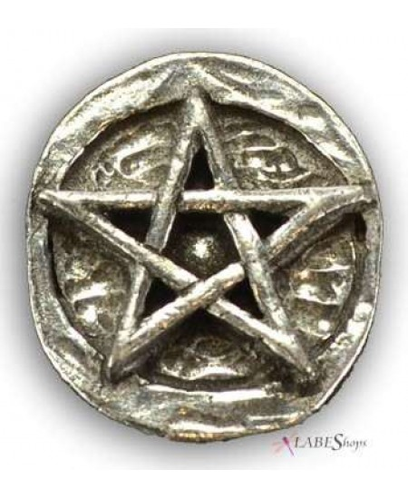 Pentagram Pewter Pocket Charm at Mystic Convergence Metaphysical Supplies, Metaphysical Supplies, Pagan Jewelry, Witchcraft Supply, New Age Spiritual Store