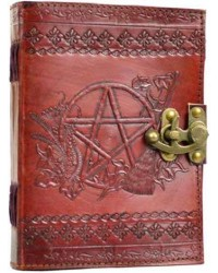 Pentagram Leather Journal with Latch Mystic Convergence Metaphysical Supplies Metaphysical Supplies, Pagan Jewelry, Witchcraft Supply, New Age Spiritual Store