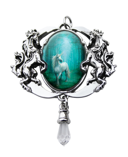 Forest Enchanted Unicorn Cameo by Anne Stokes at Mystic Convergence, Wiccan Supplies, Pagan Jewelry, Witchcraft Supplies, New Age Store
