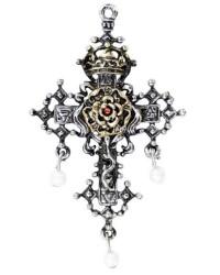 Hampton Court Rose Cross Necklace