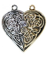 Tristan and Iseult Heart Token Necklace Mystic Convergence Metaphysical Supplies Metaphysical Supplies, Pagan Jewelry, Witchcraft Supply, New Age Spiritual Store