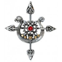 Yorvik Compass Necklace for Safe Travels