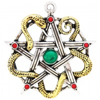 Sulis Minerva Serpent Pentagram Necklace