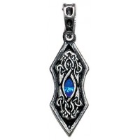 Eye of the Ice Dragon Pewter Necklace for Stability