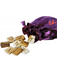 Wooden Runes in Pouch Mystic Convergence Metaphysical Supplies Metaphysical Supplies, Pagan Jewelry, Witchcraft Supply, New Age Spiritual Store
