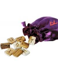 Wooden Runes in Pouch