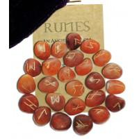 Carnelian Gemstone Rune Set