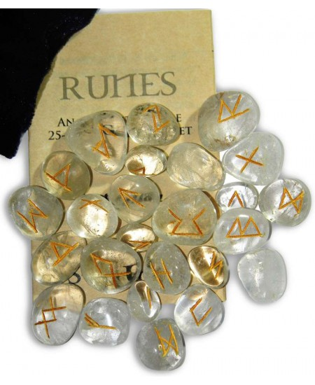 Crystal Quartz Gemstone Runes at Mystic Convergence Metaphysical Supplies, Metaphysical Supplies, Pagan Jewelry, Witchcraft Supply, New Age Spiritual Store