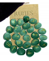 Green Aventurine Rune Set Mystic Convergence Metaphysical Supplies Metaphysical Supplies, Pagan Jewelry, Witchcraft Supply, New Age Spiritual Store