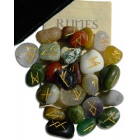 Multi-Stone Agate Gemstone Rune Set