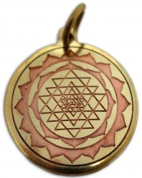 Shri Yantra Magickal Charm for Good Luck Mystic Convergence Metaphysical Supplies Metaphysical Supplies, Pagan Jewelry, Witchcraft Supply, New Age Spiritual Store