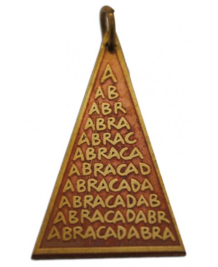 Abracadabra Charm for Good Fortune at Mystic Convergence Metaphysical Supplies, Metaphysical Supplies, Pagan Jewelry, Witchcraft Supply, New Age Spiritual Store