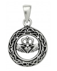 Celtic Claddagh Sterling Silver Pendant for Love Mystic Convergence Metaphysical Supplies Metaphysical Supplies, Pagan Jewelry, Witchcraft Supply, New Age Spiritual Store