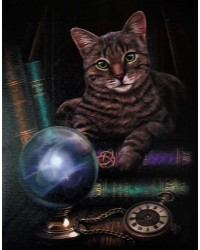 Fortune Teller Cat Canvas Print Mystic Convergence Metaphysical Supplies Metaphysical Supplies, Pagan Jewelry, Witchcraft Supply, New Age Spiritual Store