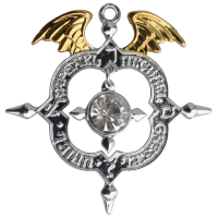 Winged Archangel Shield Amulet Kaballah Necklace